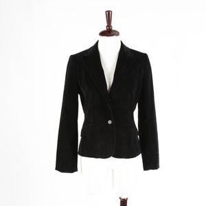 ANN TAYOR – Black Velvet Jacket Blazer – Size 6